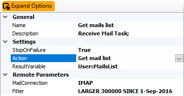 Receive Mail Task