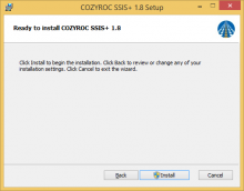 Install Dialog Window