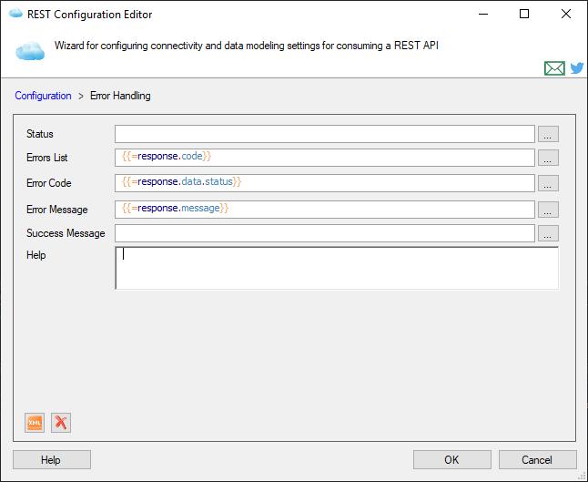 Error Handling Settings Page